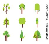 trees vector set | Shutterstock .eps vector #603040220