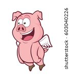 flying pig | Shutterstock .eps vector #603040226