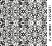 seamless floral pattern motif... | Shutterstock .eps vector #603042554