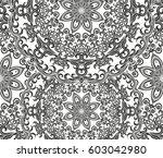 seamless floral pattern motif... | Shutterstock .eps vector #603042980