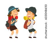 children scout people adventure ... | Shutterstock .eps vector #603048650