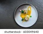 delicious cooked rabbit ... | Shutterstock . vector #603049640