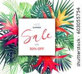 Summer Vector Floral Sale...