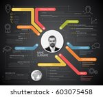 vector original cv   resume... | Shutterstock .eps vector #603075458