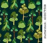 earth day. seamless pattern... | Shutterstock .eps vector #603079508