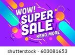 sale banner template design.... | Shutterstock .eps vector #603081653