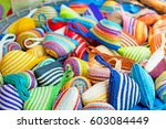 hand craft small pocket in the... | Shutterstock . vector #603084449