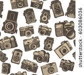 hand drawing retro photo... | Shutterstock .eps vector #603086036