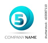 number five vector logo symbol... | Shutterstock .eps vector #603087110