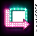 neon sign with arrow and... | Shutterstock .eps vector #603088940