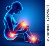 3d illustration of women leg... | Shutterstock . vector #603090149