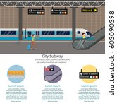 subway station platform set... | Shutterstock .eps vector #603090398