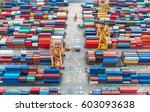 container container ship in... | Shutterstock . vector #603093638