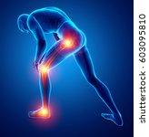 3d illustration of male leg... | Shutterstock . vector #603095810