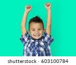 child boy studio portrait... | Shutterstock . vector #603100784