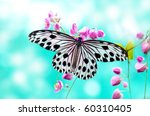 Close up rice paper butterfly...