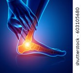 3d illustration of male foot... | Shutterstock . vector #603105680