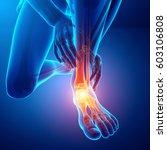 3d illustration of male foot...   Shutterstock . vector #603106808
