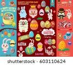 vintage easter egg poster... | Shutterstock .eps vector #603110624