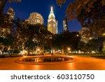 madison square park in summer... | Shutterstock . vector #603110750