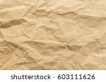 brown wrinkle recycle paper... | Shutterstock . vector #603111626