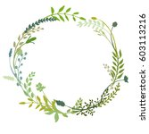 a vector wreath isolated on... | Shutterstock .eps vector #603113216