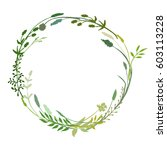a vector wreath isolated on... | Shutterstock .eps vector #603113228