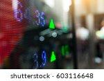 display of stock market quotes | Shutterstock . vector #603116648