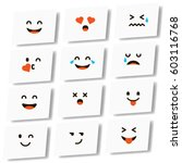emoticon. vector style smile... | Shutterstock .eps vector #603116768