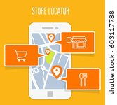 store locator tracker app and... | Shutterstock .eps vector #603117788