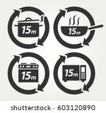 vector meal preparation icons... | Shutterstock .eps vector #603120890