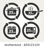 vector meal preparation icons... | Shutterstock .eps vector #603121124