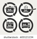 vector meal preparation icons... | Shutterstock .eps vector #603121154