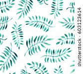 seamless pattern of watercolor... | Shutterstock . vector #603123614