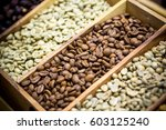 Coffee Beans Showing Various...