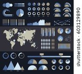 world map infographic. vector... | Shutterstock .eps vector #603129890