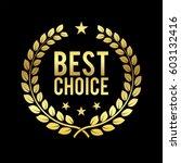 golden laurel wreath. best... | Shutterstock .eps vector #603132416