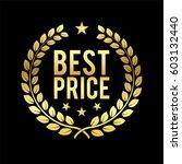 gold laurel wreath. best price... | Shutterstock .eps vector #603132440