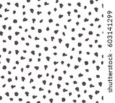 simple dot pattern. hand drawn ... | Shutterstock .eps vector #603141299