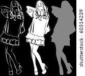 vector silhouettes of beautiful ... | Shutterstock .eps vector #60314239