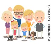 fun family illustration | Shutterstock .eps vector #603145148