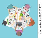 creative team  co working... | Shutterstock .eps vector #603151478