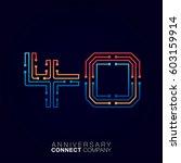 40 anniversary  letter forty... | Shutterstock .eps vector #603159914