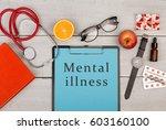 medecine concept   clipboard... | Shutterstock . vector #603160100