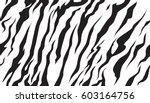 stripe animal jungle bengal... | Shutterstock .eps vector #603164756