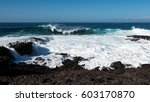 Big Wave On Rocky Beach