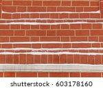 red kremlin wall in moscow in... | Shutterstock . vector #603178160