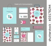 set of corporate identity for... | Shutterstock .eps vector #603178244