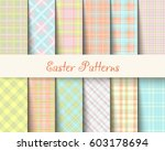 easter tartan vector patterns | Shutterstock .eps vector #603178694