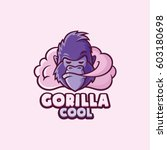 gorilla cool. logo template.